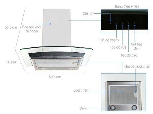 Máy Hút Mùi ống EFC636GAR 1