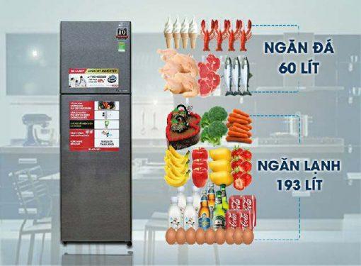 Tủ Lạnh Sharp SJ-XP400PG-BK 3