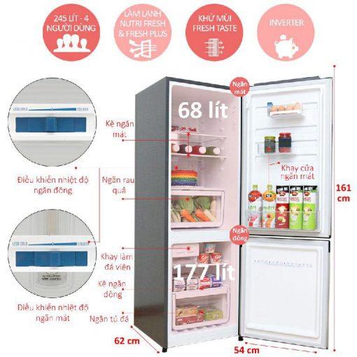 Tủ lạnh EBB2600MG-XVN 3