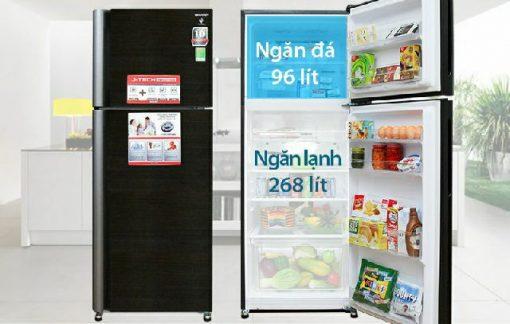 Tủ Lạnh Sharp SJ-XP400PG-BK 6