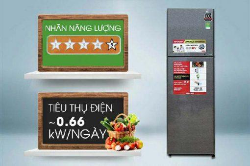 Tủ Lạnh Sharp SJ-XP400PG-BK 4