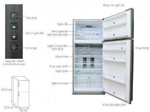 Tủ Lạnh Sharp SJ-XP630PG-BK 3