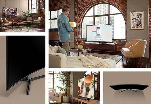Smart Tivi Man Hinh Cong Samsung 55 Inch Uhd 4k Ua55nu7500kxxv 4