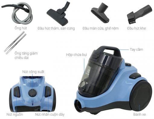 May Hut Bui Chinh Hang Electrolux Ec31 2bb 5