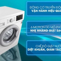 Máy giặt LG Inverter 9 kg FM1209N6W Mẫu 2019
