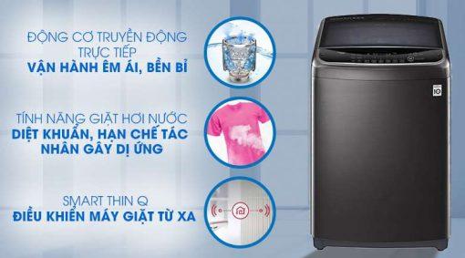 Máy giặt LG Inverter 19 kg TH2519SSAK Mẫu 2019