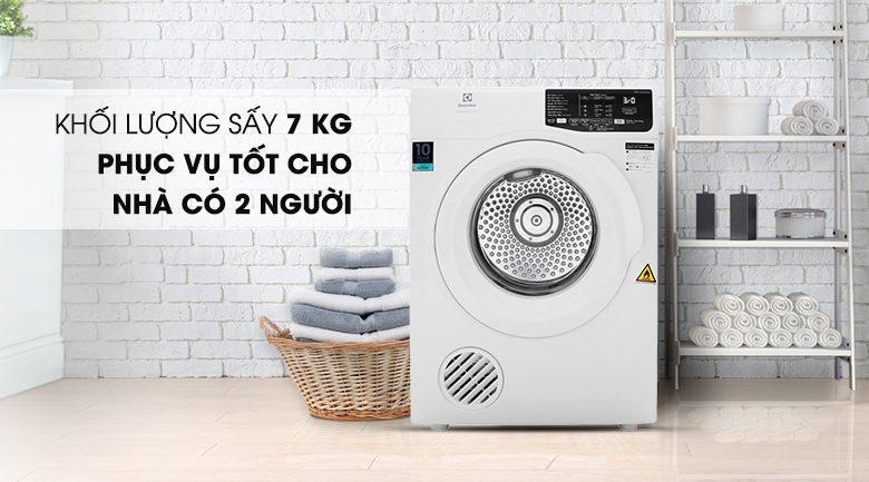 Máy sấy Electrolux 7 Kg EDV705HQWA Mẫu 2019