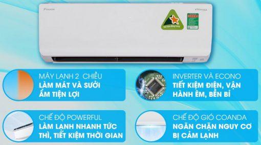 Điều hoà Daikin FTHF50RAVMV 2 chiều Inverter 18000BTU