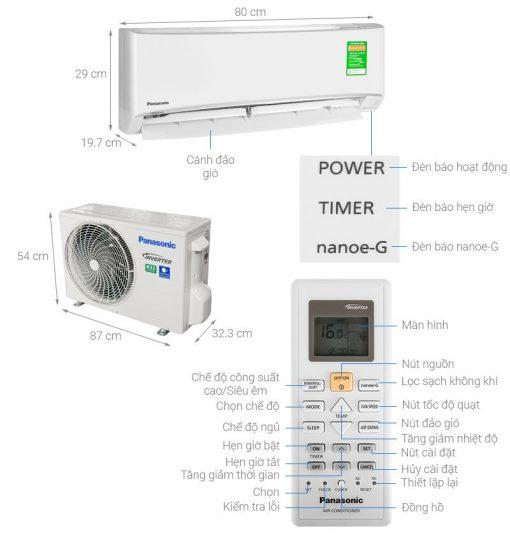 Điều hòa Panasonic 2 chiều Inverter CS-YZ18UKH-8 18.000BTU