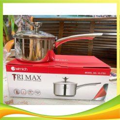 Quánh Inox 2 lớp chống dính đáy liền Elmich Tri-max EL-3783 size 14cm