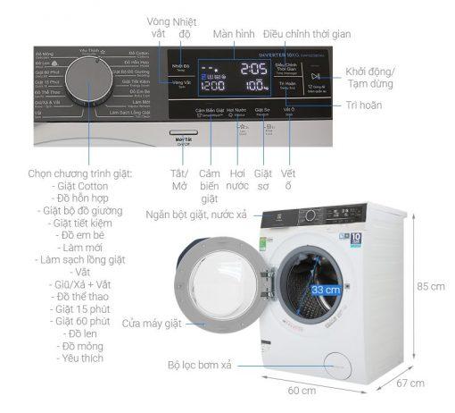 May Giat Electrolux Inverter 10 Kg Ewf1023bewa Mau 2019