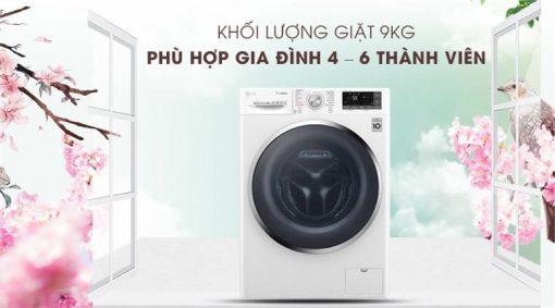 May Giat Lg Inverter 9 Kg Fc1409s4w 1