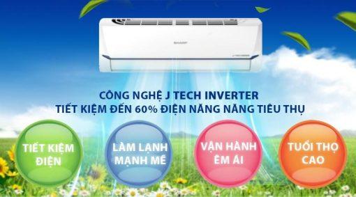 Công nghệ J-TechInverterhiện đại giúp tiết kiệm điện năng