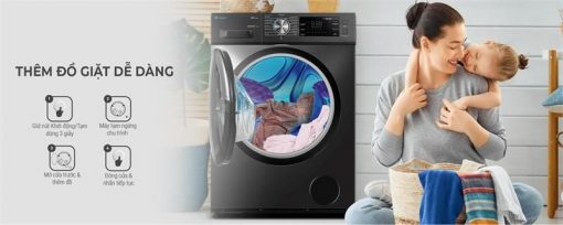 Máy giặt lồng ngang inverter Casper 8.5Kg WF-85I140BGB