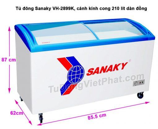 Tủ đông Nắp kính Sanaky VH- 2899k 210 lít