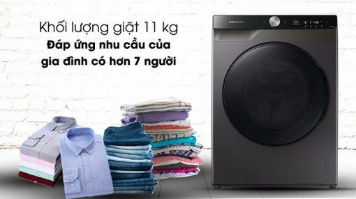Máy giặt sấy Samsung Inverter 11kg WD11T734DBX/SV